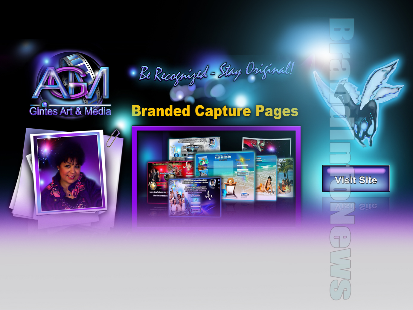 Branded capture pages